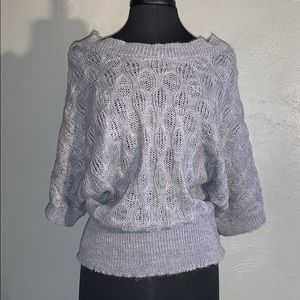 Gray Knit Off the Shoulder